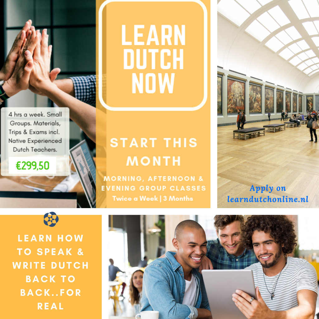 Learn Dutch Now in 24 to 48 hours in your city. Materials, educational trips and exams included!